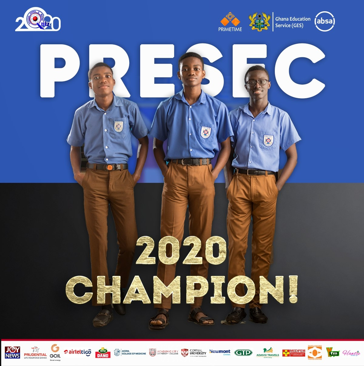 Presbyterian Boys' Senior High School (PRESEC) Crownd Champions Of The National Maths And ...